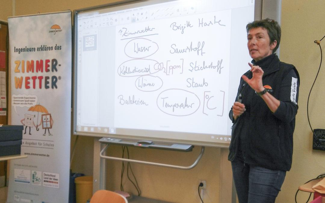 Oberstufenschüler werden Zimmerwetter-Profis