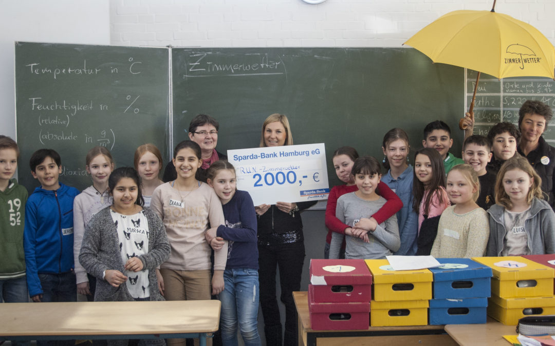 Sparda-Bank spendet 2.000 Euro für das Zimmerwetter-Projekt