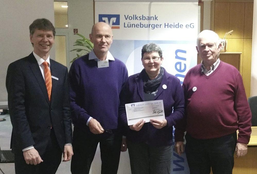 Volksbank Lüneburger Heide unterstützt das Zimmerwetter-Projekt